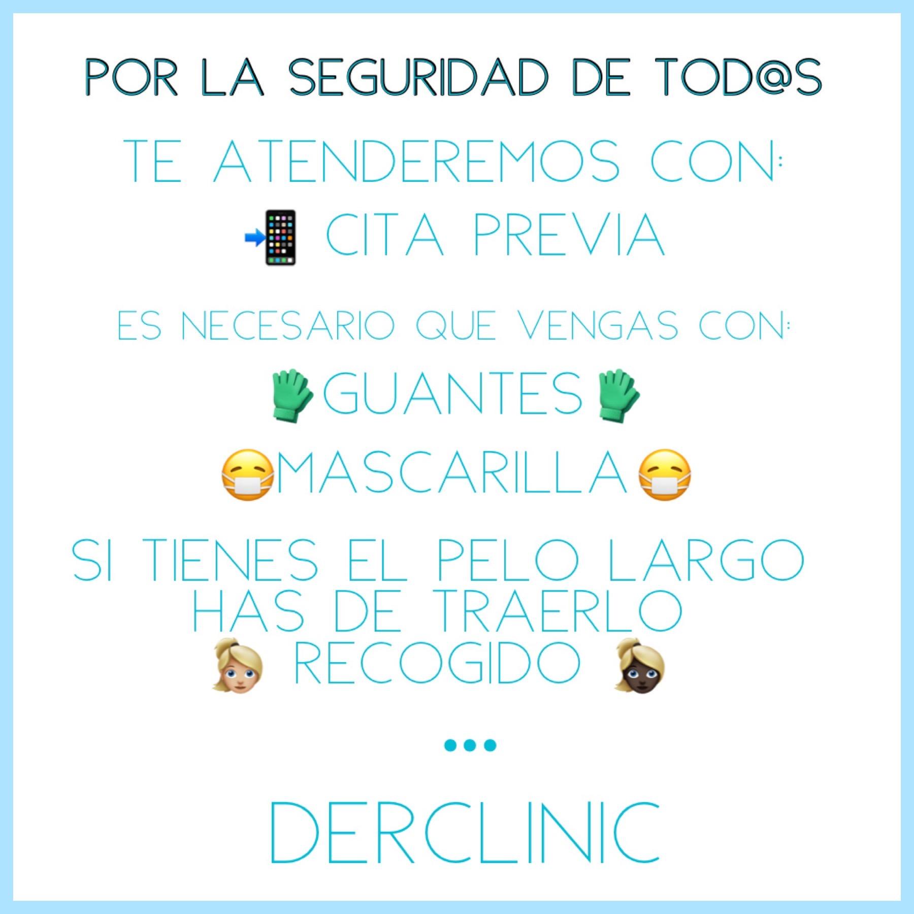 (Español) En Derclinic volvemos a estar a tu servicio con la máxima seguridad